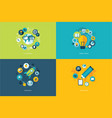 set flat design concept icons for education vector image