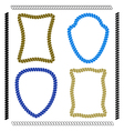 Set of colorful rope frames and brushes vector image
