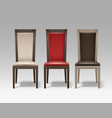 set room chairs vector image vector image