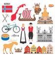 set with norwegian symbols vector image vector image