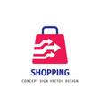 shopping - abstract logo template concept vector image