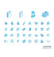 shopping isometric line icons 3d vector image vector image