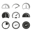 Speedometer icon set vector image vector image