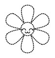 sticker flower kawaii cartoon botanical icon vector image vector image