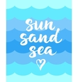 Summer card with hand drawn brush lettering Sun vector image vector image
