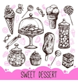 Sweet Dessert Set vector image