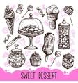 Sweet Dessert Set vector image vector image