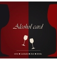 Template of an alcohol menu vector image vector image