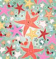 texture of bright sea stars vector image