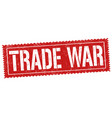 trade war sign or stamp vector image vector image
