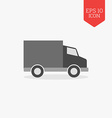 Truck icon commercial vehicle concept Flat design vector image