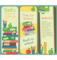 Vertical School and Book Banners or Bookmarks vector image vector image
