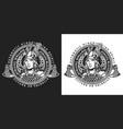 viking round vintage label vector image vector image
