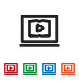 watch video icon vector image vector image