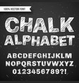 white chalk hand drawing alphabet school vector image vector image