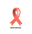 world aids day ribbon red vector image vector image