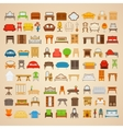 Set of eighty six furniture for home vector image