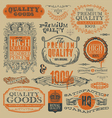 vintage emblems and labels vector image
