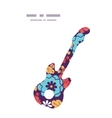 colorful bouquet flowers guitar music silhouette vector image