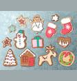 gingerbread set vector image