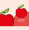 apple fruit tropical fresh natural on colored vector image vector image