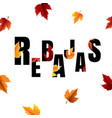 autumn sale banner with leaf vector image vector image