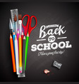 back to school design with colorful pencil pen vector image vector image