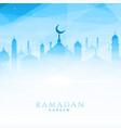 beautiful mosque for ramadan kareem vector image