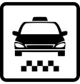 black taxi car vector image vector image
