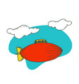 blimp airplane cartoon design vector image
