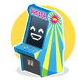 Blue Vintage Arcade Machine Game vector image