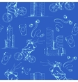 Blueprint city seamless pattern vector image vector image