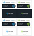 business card with the letter n attractive cards vector image vector image