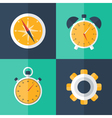 business flat icons blue and green vector image vector image