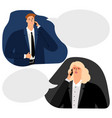 businesspeople phone conversation vector image vector image