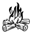 campfire vintage tattoo template vector image