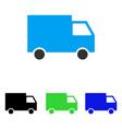 cargo van flat icon vector image vector image