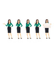 casual business woman vector image vector image