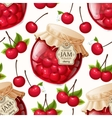 Cherry jam seamless pattern vector image