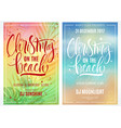 christmas on the beach poster vector image vector image