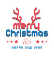 christmas typographic card vector image vector image