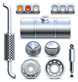Chromed Truck Parts Set 1 vector image vector image