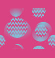 circles and zigzags geometric seamless pattern in vector image