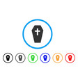 coffin rounded icon vector image vector image