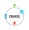 concept of traveling by car and plane vector image