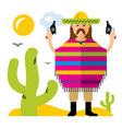 crime in mexico flat style colorful vector image vector image
