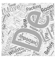 Decluttering before packing Word Cloud Concept vector image