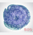 doodle hand drawing sketchy seo icons composition vector image vector image