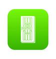 door with handle icon green vector image