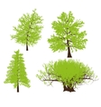 drawing of the tree llustration vector image vector image
